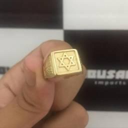 Anéis / dedeira Banhados a Ouro mais verniz