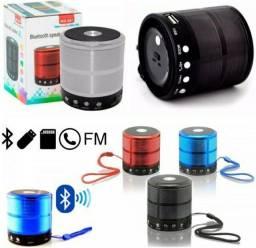 Caixinha de som Bluetooth, Rádio, USB, SD e P2