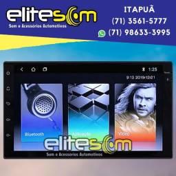 Central Multimídia 2din Slim S300+ Android 8.1 Tv Full HD Gps instalada na Elite Som