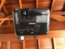 Projetor Epson S18+, + suporte + tela de projeção