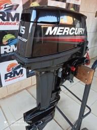 Título do anúncio: Motor popa Mercury 15 Hp super zero 2021/22