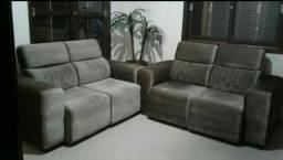 2 sofás retrátil e reclináveis