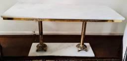 Conjunto mesa de mármore antigas