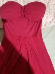 Vestido vermelho curto M