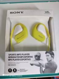 MP3 PLAYER SONY NW-WS413 4GB WALKMAN À PROVA DÁGUA ORIGINAL