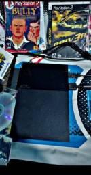 Playstation 2 desbloqueado com jogos e tapete de dança