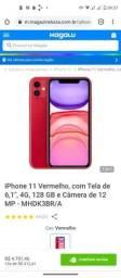 iPhone 11 , 128 gb , vermelho, na caixa , sem uso.