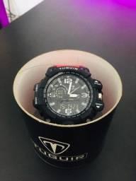 *Novo* Relógio Masculino Tuguir Anadigi Tg1155 Preto/vermelho