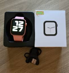 Relógio smartwatch t500 iwo rose preto e branco - original