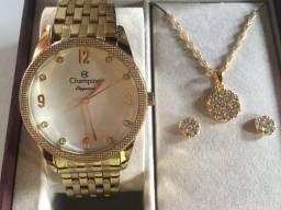 Kit Relógio Champion Elegance Feminino