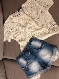 Blusinha Tricô e Shorts