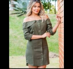 Título do anúncio: vestido curto em linho tamanho G