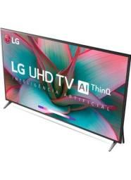"TV LED 55"" UHD 4K LG 55UN7310PSC Wi-Fi, Bluetooth,Inteligência Artificial NF nova"
