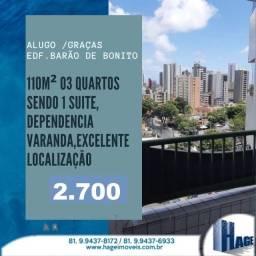 Título do anúncio: oportunidade3 qts/2 vagas /110m²/ótima localização/graças/