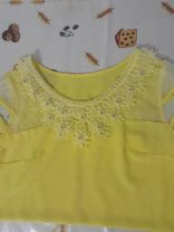Título do anúncio: blusa social amarela tamanho G