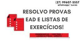 Resolução para todos os cursos superiores! Listas de Exercícios/ Provas e mais!