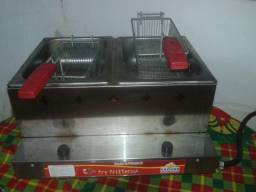 Fritadeira dupla a gaz