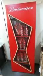 Grande antigo painel luminoso da cerveja budweiser para colecionadores!!