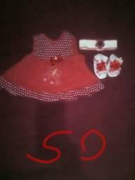 Vestido sapatinho e tiara