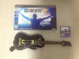 Guitar Hero Ps3 Hero Live Guitarra + Jogo - Ótimo Estado de conservação
