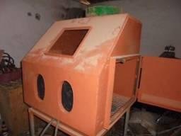 Cabine de jato de areia 80 cm por 80 chapa de aço 3 mm troca cg 125 ou pop 100