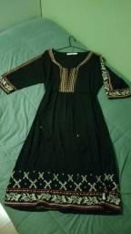 Vestido preto larguinho