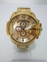 344d54e05cc Relógio Diesel aço dourado - Frete Grátis