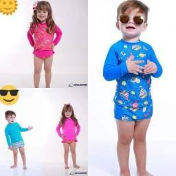 Conjunto infantil de proteção UV