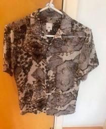 Camisa em tecido com leve transparência River Island nova