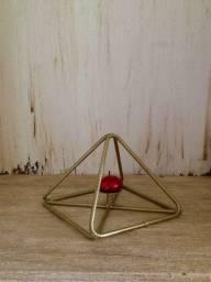 Título do anúncio: Castiçal pirâmide . S/ vela. Cod. D010