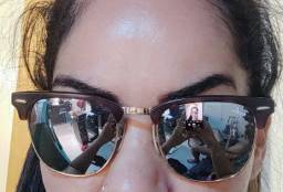 Óculos Rayban clubemaster original. lente espelhada.