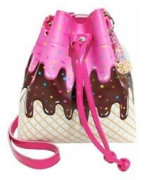 Bolsa Infantil Estampa Sorvete Pink