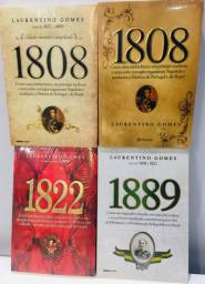 Coleção Livros Laurentino Gomes 1808 1822 1889