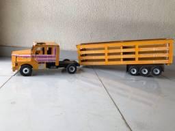 Caminhão Scania madeira boiadeiro RELÍQUIA! brinquedo