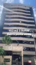 Vendo apt com 153 m2 3 suites bairro de ponta verde