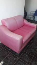 Sofa rosa 2 lugares usado* pra sair hoje !!!