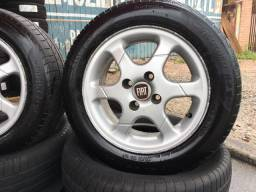 Roda Fiat aro 14  com pneus