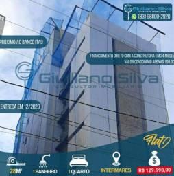 Flat Novo Intermares 1 Quarto Piscina Elevador Financiamento Direto Construtora