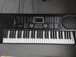 Teclado Musical 61 Teclas + Estante Partitura + Fonte