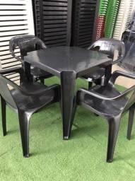 Jogo de mesa plastico super resistente