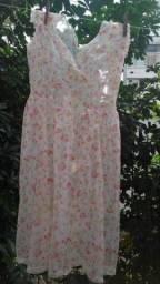 Camisola Transparente Floral Tam: P