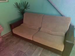 Sofá com chaise retrátil