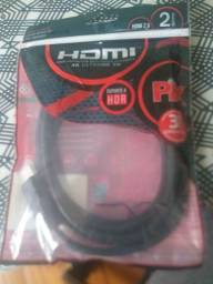 Título do anúncio: Cabo HDMI  na embalagem  sem uso novo