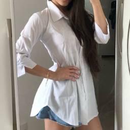 Blusa chemise branca PROMOÇÃO
