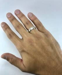 Par de alianças 5mm em prata pura 950