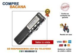 Gravador Espião De Voz Digital Mp3 8gb Microfone Lapela