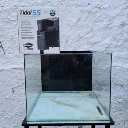 Aquário Marinho com filtro Tidal 55