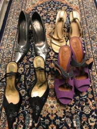 4 sapatos salto alto