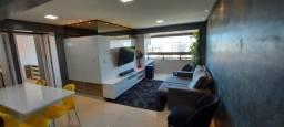 Apartamento 2 Quartos Mobiliado e Projetado com Vista Mar