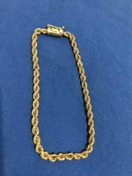 Título do anúncio: Pulseira de Moeda antiga modelo cordão Baiano